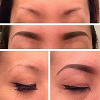 Permanent makeup eyebrow tattoo removal